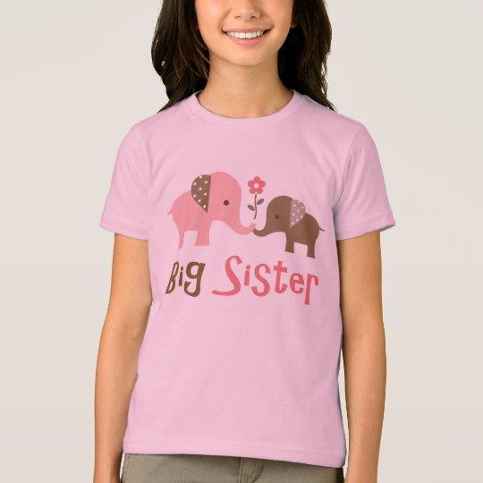 Big Sister - Mod Elephant t-shirts for girls