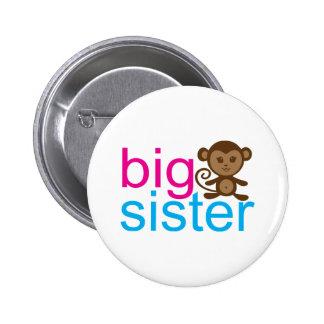Big Sister Monkey 6 Cm Round Badge