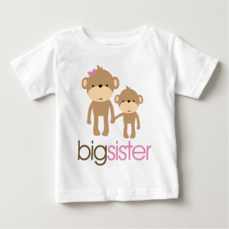 Big Sister Monkey Pregnancy Announcement T-shirt