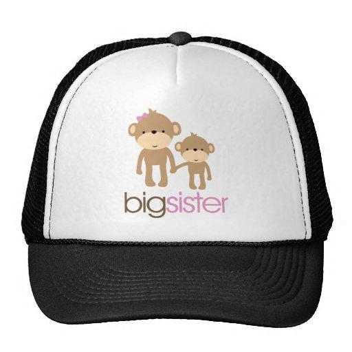Big Sister Monkey Pregnancy Announcement T-shirt Trucker Hat