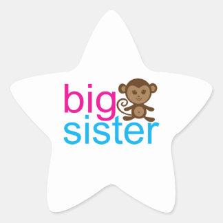 Big Sister Monkey Star Sticker