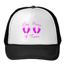 Big sister of twin girls cap