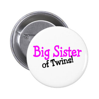 Big Sister Of Twins 6 Cm Round Badge