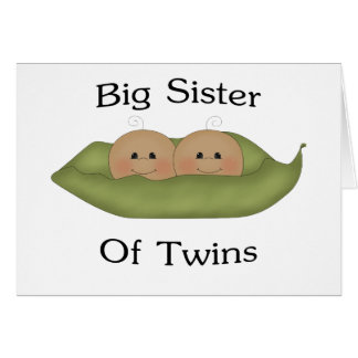 Big Sister Of Twins Card
