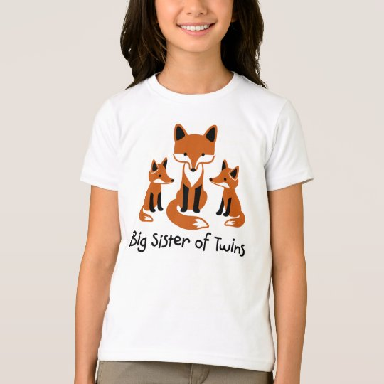 Big Sister of Twins - Mod Fox t-shirts for girls