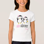Big Sister Penguin Personalised Pink Shirt
