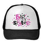 BIG SISTER pink /black Polka dot T-shirt Cap