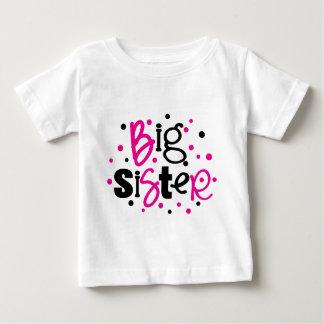 BIG SISTER pink black polkadot Baby T-Shirt