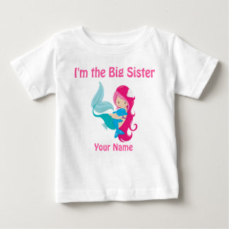 Big Sister Pink Mermaid Personalized Shirt