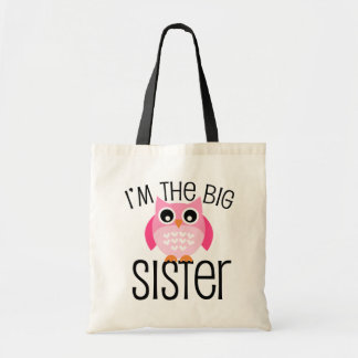 Big Sister Pink Owl Tote Bag