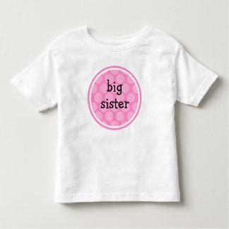 Big Sister Pink Polka Dot Circle Toddler T-Shirt