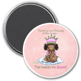 Big Sister - Queen of Little Sister - Princess 7.5 Cm Round Magnet