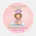 Big Sister - Queen of Princess Round Sticker