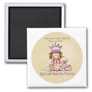 Big Sister - Queen of Twins Square Magnet