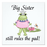 Big Sister Rules the Pad Gifts Custom Announcements