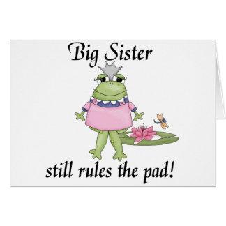 Big Sister Rules the Pad Tshirts Greeting Card