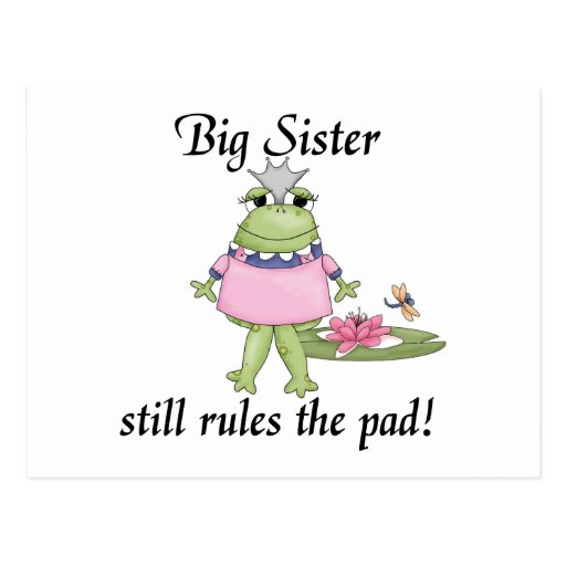 Big Sister Rules the Pad Tshirts Post Cards