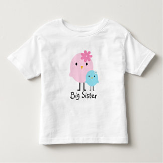 Big Sister Spring Birds Girls Tee