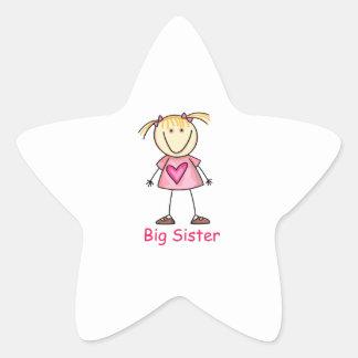 BIG SISTER STAR STICKER