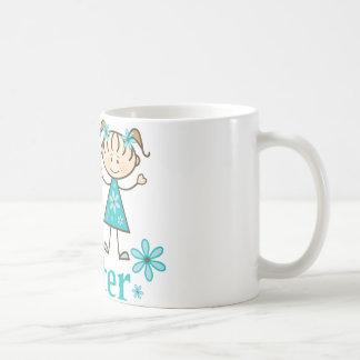Big Sister Stick Figure Basic White Mug
