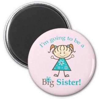 Big Sister Stick Figure Fridge Magnets