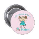 Big Sister Stick Figure Pinback Button