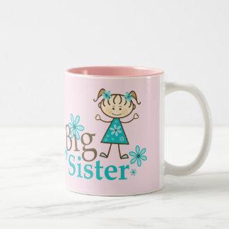 Big Sister Stick Figure Two-Tone Mug
