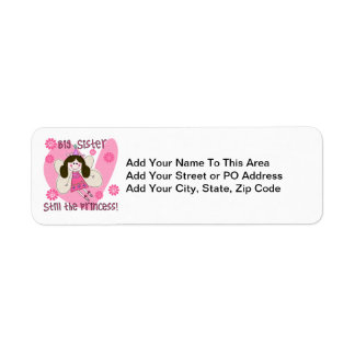 Big Sister Still the Princess Return Address Label