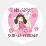 Big Sister Still the Princess Round Sticker