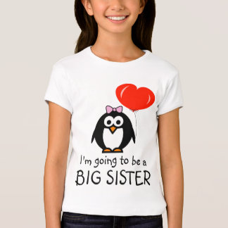 Big sister t shirt for sibling | Penguin cartoon
