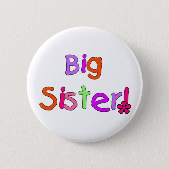 Big Sister T-shirts and Gifts 6 Cm Round