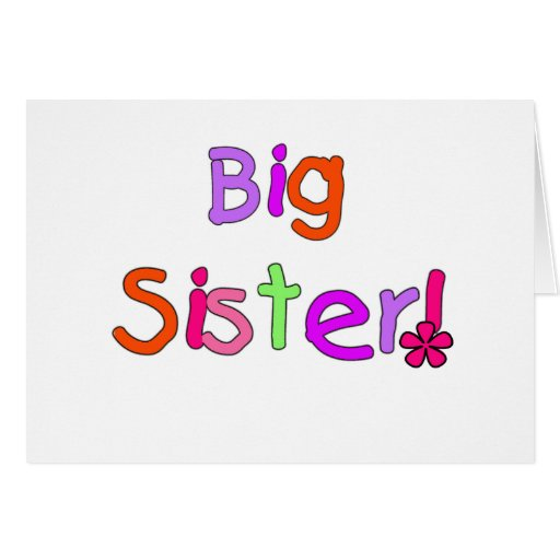 Big Sister T-shirts and Gifts Cards