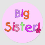 Big Sister T-shirts and Gifts Round Sticker