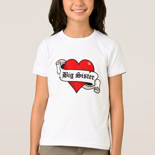 Big Sister Tattoo Heart Shirts