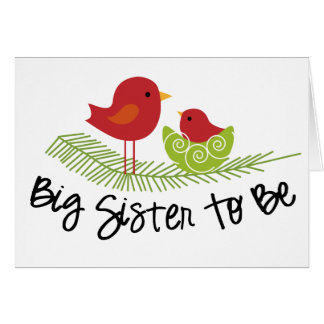 big sister to be card