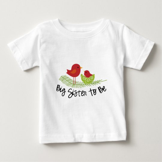 big sister to be christmas birdies baby T-Shirt
