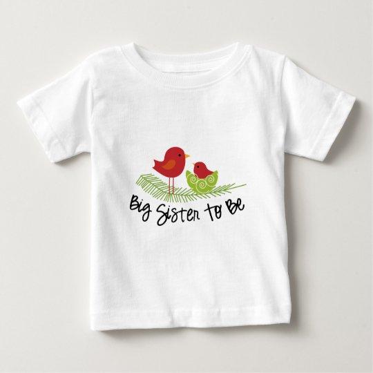 big sister to be christmas birdies baby T-Shirt