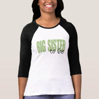 Big Sister To Be (Green Block Font) T-Shirt