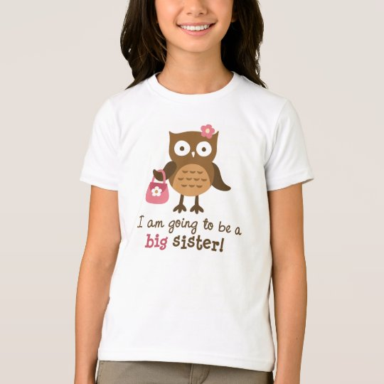 Big Sister to be - Mod Owl t-shirts