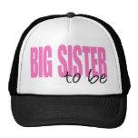Big Sister To Be (Pink Block Font) Cap