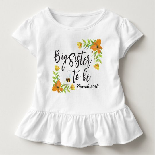 Big Sister To Be Pregnancy Announcement Shirt