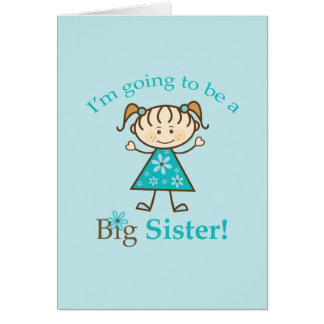 Big Sister To Be Stick Figure Card