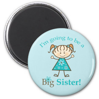 Big Sister To Be Stick Figure Refrigerator Magnets