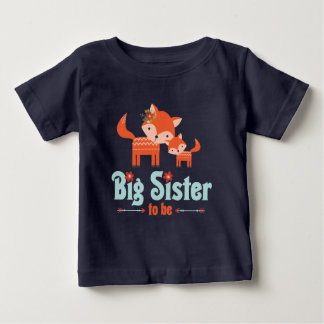 Big Sister to Be Woodland Foxes Baby T-Shirt