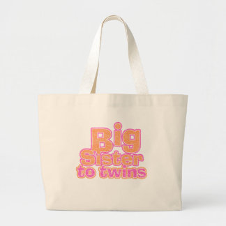 Big Sister to Twins Tote Bags