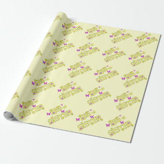 Big sister, with butterflies, gift wrap. wrapping paper