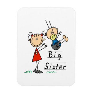 Big Sister with Little Brother Gifts Vinyl Magnets