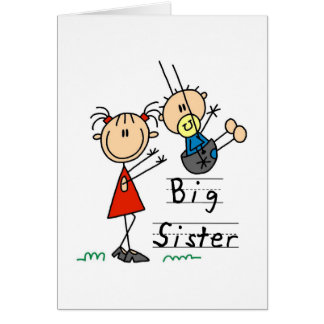 Big Sister with Little Brother Tshirts and Gifts Greeting Card