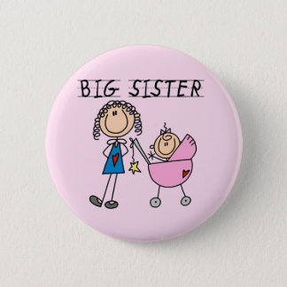 Big Sister with Little Sis Tshirts 6 Cm Round Badge