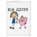 Big Sister with Little Sis Tshirts Greeting Card